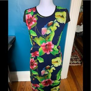 NWT floral overlay dress SY Luchee